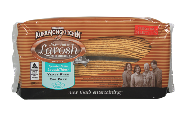 Kurrajong Kitchen LavoshThins™ Sprouted Grain